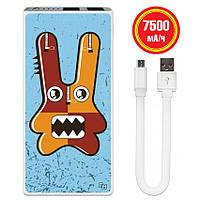 Мобильное зарядное устройство Веселый Монстр, 7500 мАч (E189-15)