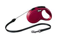 Поводок-Рулетка для собак до 20кг Флекси нью-классик М, трос, 5м, красный