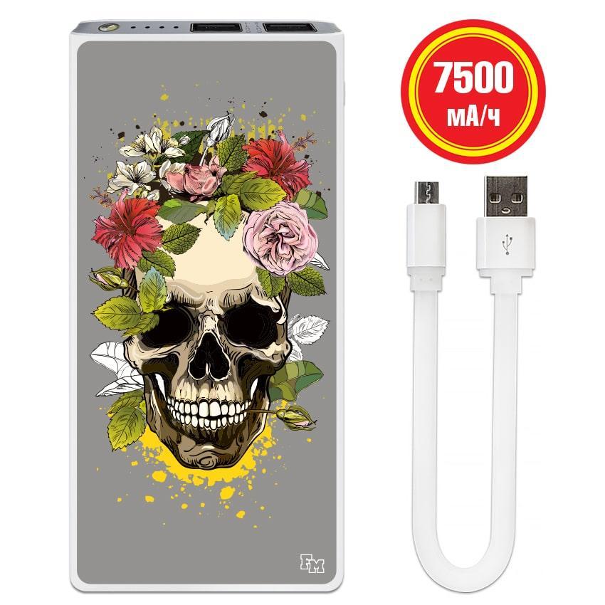 Мобильное зарядное устройство Череп, 7500 мАч (E189-31)
