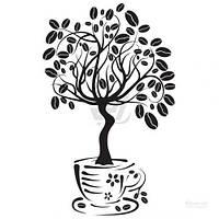 Декоративная наклейка Zatarga Дерево кофе
