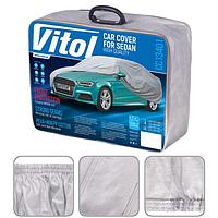 Тент автомобильный Vitol CC13401 с подкладкой PEVA+PP Cotton (XL 534х178х120)