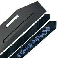 Нарядный мужской галстук с вышивкой