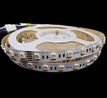 Світлодіодна стрічка RGB/3000К 4 канала 17.6Вт 24вольт 5050-60-IP20-RGB/WW-12-24 RD0260AC-A 12696