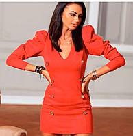 Женское нарядное платье 4019 (42/44, 46/48) (цвет красный) СП