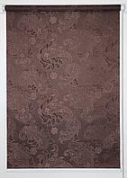 Готовые рулонные шторы 350*1500 Ткань Арабеска 2261 Коричневый