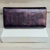 Гаманець жіночий на прихованому магніті фіолетовий, фото 1