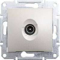 Розетка TV оконечная Schneider Electric Sedna титан
