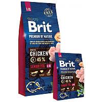 Brit Premium Dog Senior L+XL сухой корм для стареющих собак крупных пород, 15 кг
