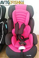 Детское авто-кресло N-LINE KINDERSAFETY  3 в 1   цвет: Малиновий