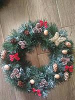 *Венок новогодний на двери 50 см