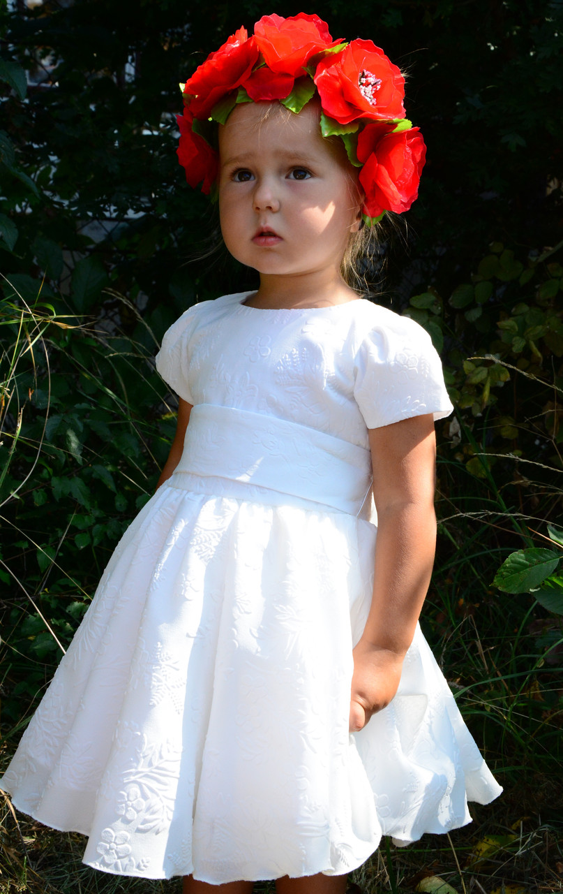 Нарядное шифоновое платье для девочки на 1-2 года