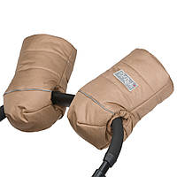 Муфта-рукавици на овчині на коляску бежеві