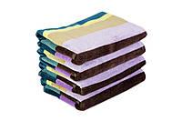 Набор 2 шт 40х60 см, велюровое полотенце в упаковке, Индия