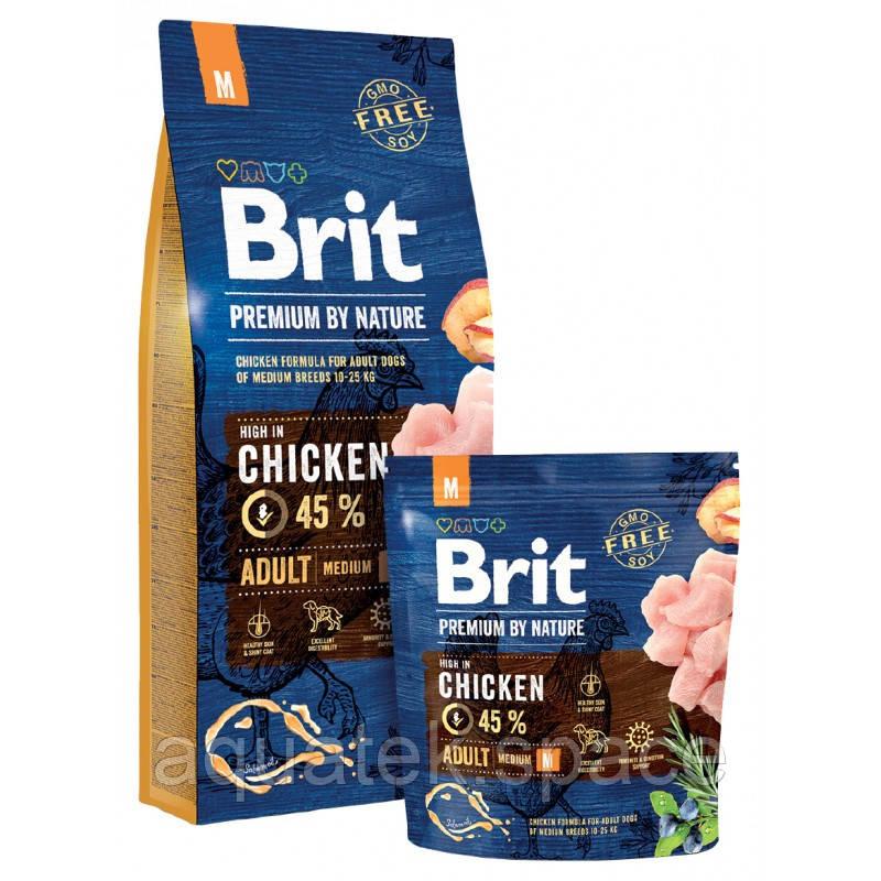 Brit Premium Dog Adult М cухой корм  для взрослых собак средних пород, 15 кг