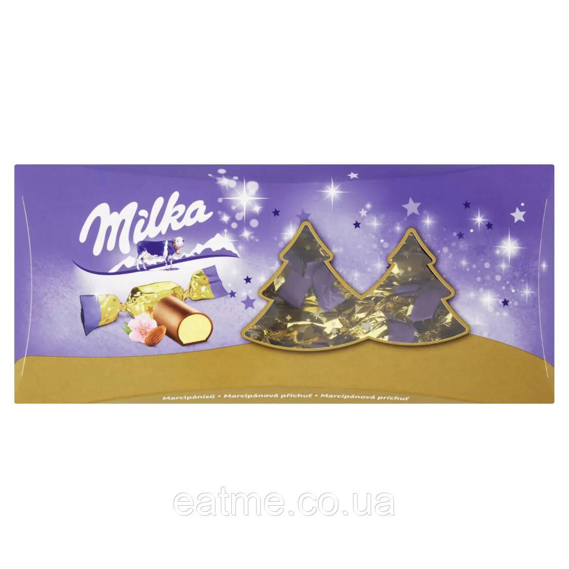 Конфеты Milka с марципановой начинкой