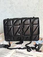 Женская кожаная сумка клатч Yves Saint Laurent YSL реплика
