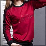 """Спортивный  костюм  черные штаны и однотонная кофта """"Красный"""", фото 2"""