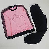 """Спортивный  костюм  черные штаны и однотонная кофта """"Персик"""", фото 1"""