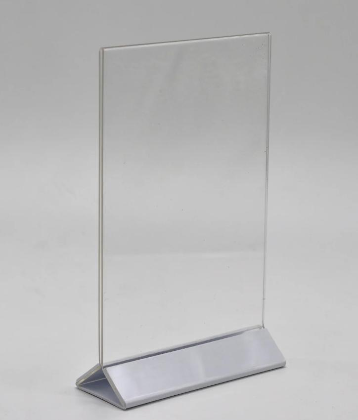 Менюхолдер вертикальный А4 формата с белой ножкой