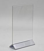 Менюхолдер А4 формату з білою ніжкою