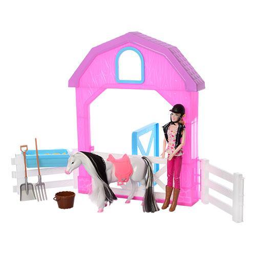 Кукла c лошадкой и конюшней MZT8981 шарнирная