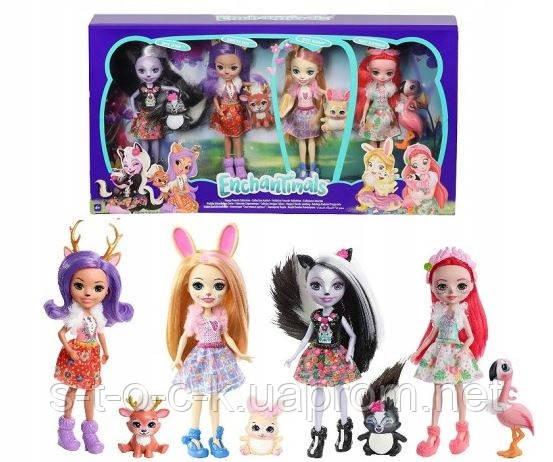 Набор из 4-х кукол Enchantimals FTN36