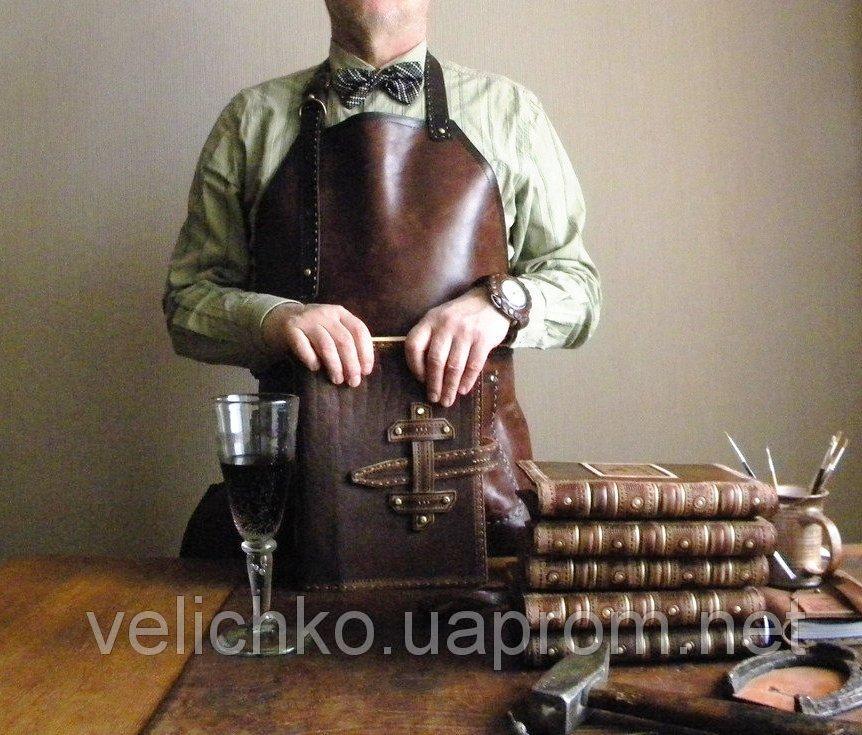 Стимпанк фартук кожаный