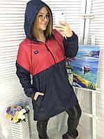 Худи женская на флисе  с капюшоном в расцветках  51867, фото 1