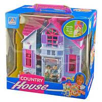 Кукольный домик F611 раскладной, с мебелью и фигурками