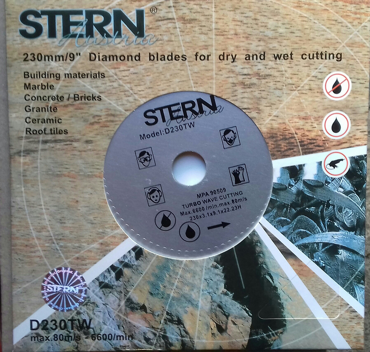 Алмазный диск STERN 230 турбоволна
