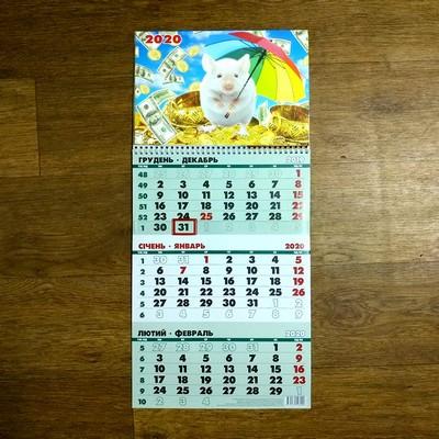 """Квартальний настінний календар """"Рік Пацюка 2020""""."""