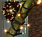 Гирлянда 100LED 10м (контрол.220V) (ЧП) Тёплый, Новогодняя бахрама, Светодиодная гирлянда, Уличная гирлянда, фото 4