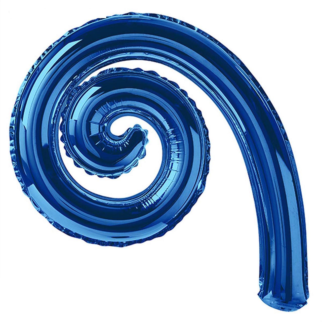 Фольгированная спираль Синяя 43*27 см