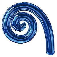 Шарик для декора в виде спирали синей 43х27 см