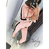 Стильный женский спортивный костюм Персик 206