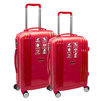 Набор пластиковых чемоданов 2в1