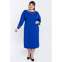 Женское батальное платье прямого кроя Ткань джесика Размер 54 56 58 60 В наличии 4 цвета, фото 1