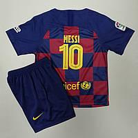 Футбольная форма Барселона Месси 2019-2020 основная домашняя сине-бордовая