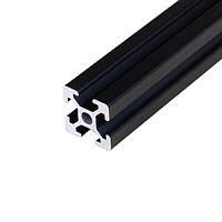 Алюмінієвий профіль 20х20 анадований чорний, порізка в розмір (станочный алюминиевый профиль)