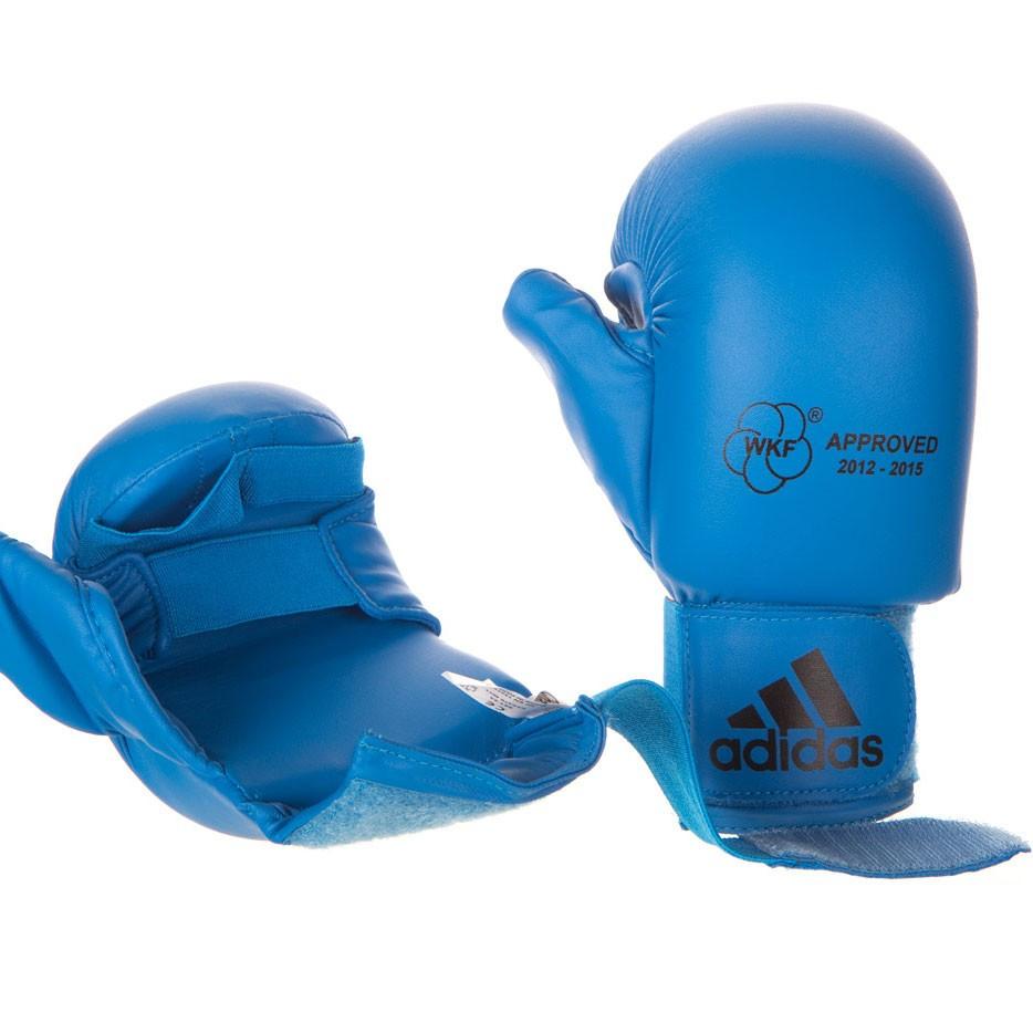 Перчатки для карате Adidas Blue (661.23) с защитой большого пальца