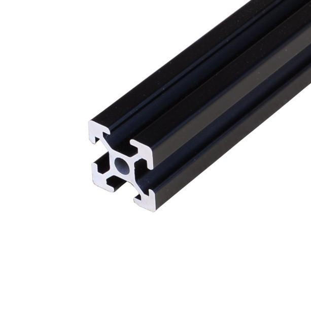 Алюмінієвий профіль 30х30 анодований чорний, порізка в розмір (станочный алюминиевый профиль)