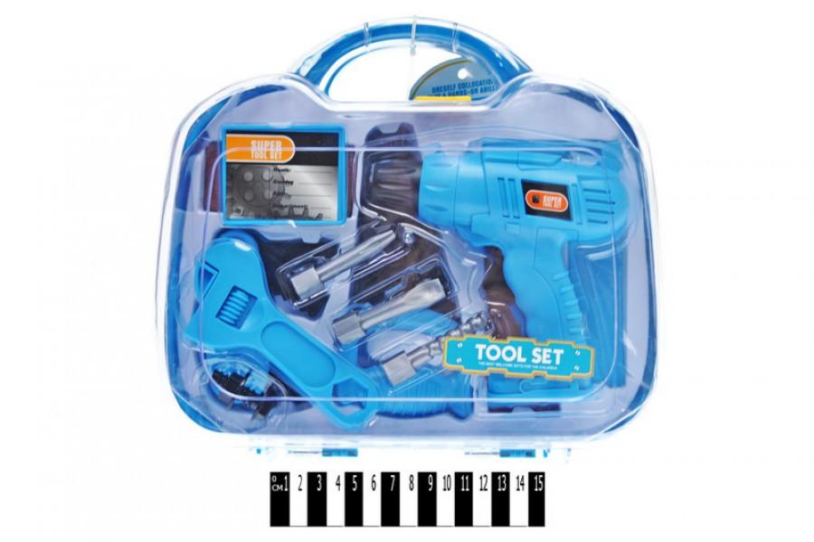 Детский набор инструментов в чемодане 6602-1