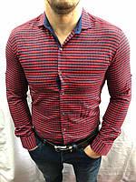 Рубашка мужская байка в клетку Турция оптом