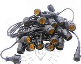 Гирлянда IP65 20 x E27 + кабель 10м + вилка (IP44)