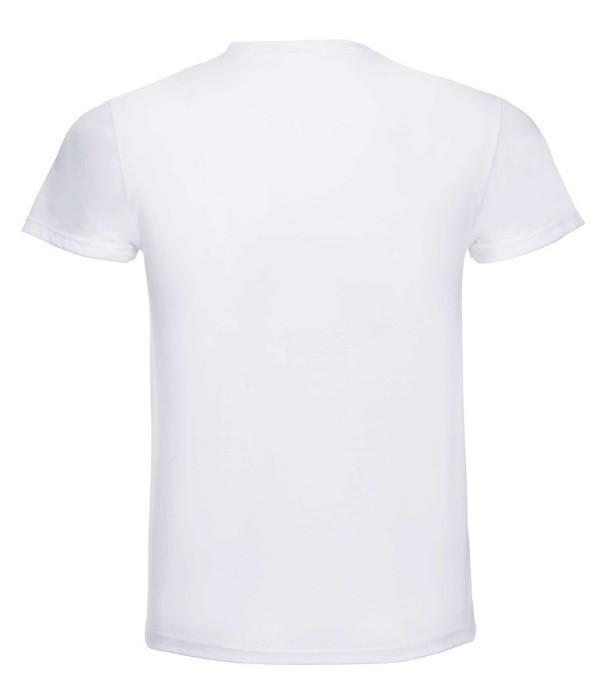 Мужская тонкая футболка Белый L