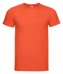 Мужская тонкая футболка Оранжевый M