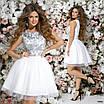 Платье вечернее пышное красивое гипюр+габардин+сетка 42,44,46, фото 3