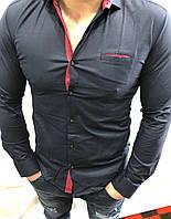 Рубашка мужская однотон 0552 Турция оптом