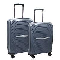Комплект пластиковых чемоданов двойка на 4-х колесах, фото 1