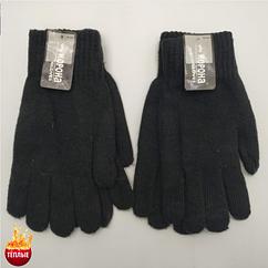 Шерстяные перчатки мужские двойные с начёсом Корона 8118 (25см) ПМЗ-160025
